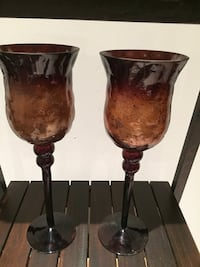 Amber Candle Holders