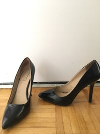 pair of black leather pointed-toe heels Toronto, M4V