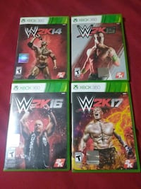 four Xbox 360 game cases Mission