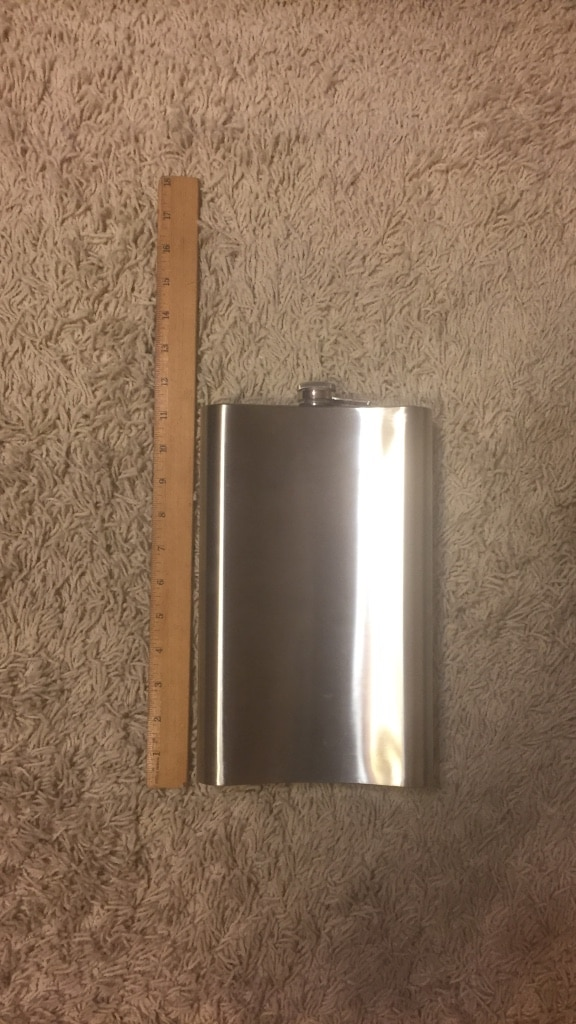 Giant metal flask