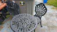 Cast iron table and two chairs Hamilton, L8K 1S4