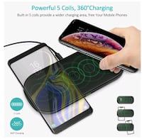 New Choetech 5 coil dual fast wireless charger Mississauga, L4Z 1G1