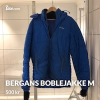 blå zip-up puffer jakke 6205 km