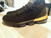 black and gold Labrons mens 10 1/2....never worn