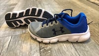 pair of gray-and-blue Under Armour sneakers South Dartmouth, 02748