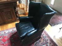 Classic leather wing backed chair