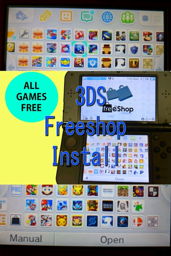 Nintendo 3ds / 2ds freeshop install