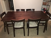 Rectangular brown wooden table with six chairs dining set (chairs can be sold separate) Silver Spring, 20902
