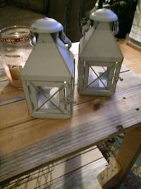 Pier 1 distressed blue lanterns set of 2 Cohoes, 12047