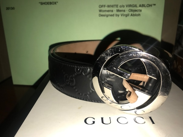 Used Black Gucci Signature Leather Belt - US MENS SIZE 32 for sale ... 29d7760cdf50c