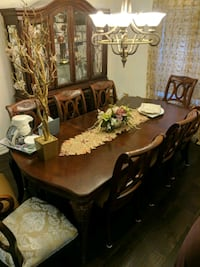 brown wooden dining table set Mississauga, L5V 2L7