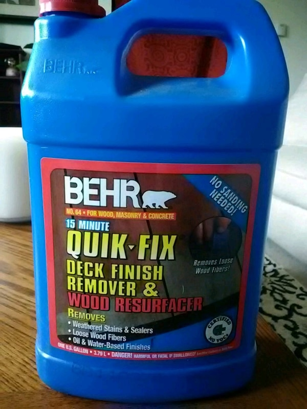BEHR 15 minute Quick-Fix Deck Finish