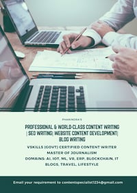 Web content writing Hyderabad, 500089