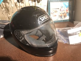Motorcycle Helmet  Shoei full face with extra visor and storage bag