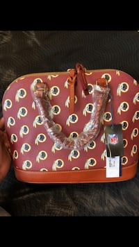 brown and red leather handbag Hyattsville, 20785