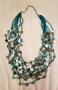 teal and brown beaded necklace Layton, 84040