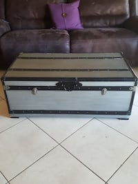 Large Grey and Black Chest/Coffee table