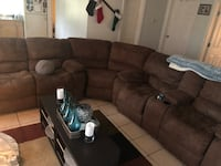 Chocolate brown couches  804 mi