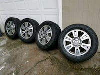 """Tundra Platinum 20"""" Wheels on Toyo Open Country Al Puyallup, 98373"""