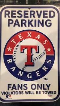 Texas Rangers reserved parking sign Great Mills, 20634