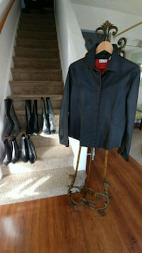 Blk & Red Leather Jacket Size 14 Raleigh