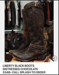 Liberty Black Distressed Boots Size 9 Fort Worth, 76137