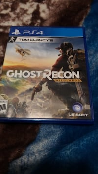 Sony PS4 Ghost Recon game case Houston, 77076