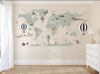 Airplane/ Map wall decal baby room Frederick, 21703