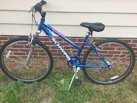 blue and white hardtail mountain bike Fayetteville, 28306