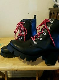 BRAND NEW Black Chunky Boot, Red Lace boots,  Los Angeles, 90011