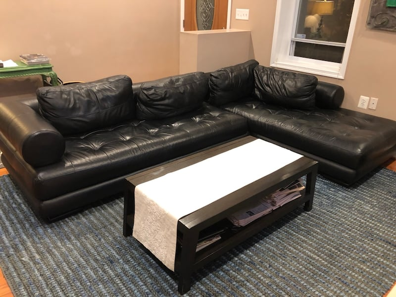 Leather Sectional 0