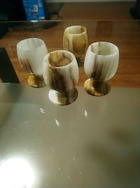 4 marble goblets  Waterloo