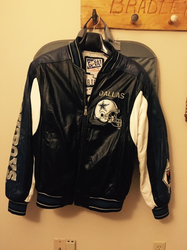 newest collection 12494 57386 Dallas cowboy leather coat