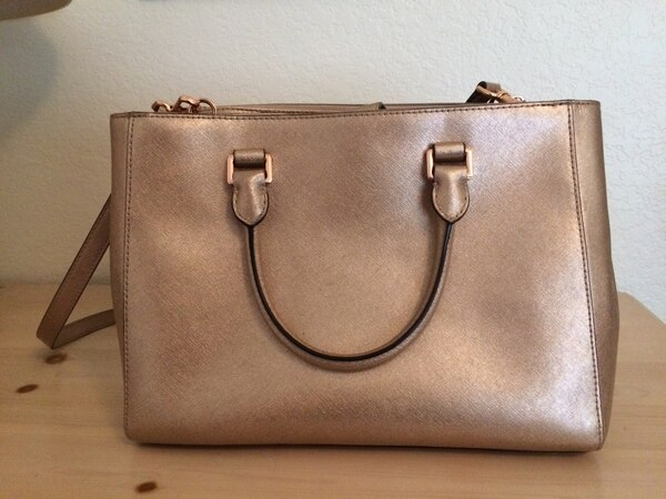 78df7e57ee06 Used Limited Edition Rose Gold Michael Kors Purse for sale in ...
