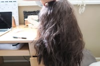 Long black wig, has clips to hold in place, great condition never used