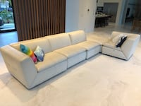 Italian leather sectional sofa Coral Gables, 33143