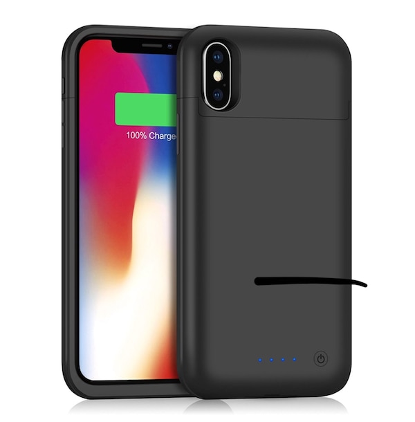 wholesale dealer ed9b0 a3933 iPhone X / 10 Battery Case 5200mAh HEPT Rechargeable External Charger Case  Portable Power Charging Case [Lightning Charging Port] with Sync Through ...