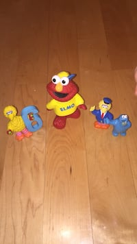 Elmo Cookie Monster big bird sesame character lot. Hard to find these days. Laval, H7Y 2C1