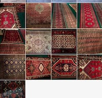 Oriental rugs of various colors and sizes