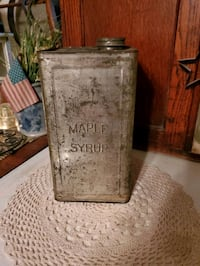 vintage  maple syrup tin  Hagerstown, 21740