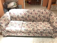 White and pink floral couch 5 pc Mississauga, L4Z 3H1