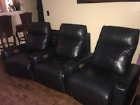 3 leather theatre recliners connect