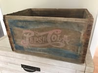 Antique double dot Pepsi wooden crate. Wood box soda pop Ottawa, K0A 3H0