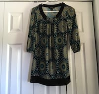black and brown floral crew neck long sleeve blouse Pretty Prairie