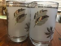 8 Silver Leaf Glasses 12 oz Good condition  Downey, 90242
