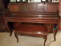 brown wooden upright piano with chair Sylvester, 31791
