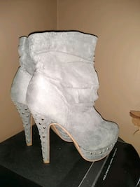 grey studded boots