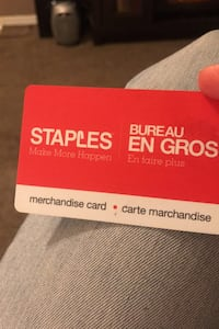 Staples gift card $130