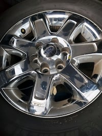 Michelin Defender 265 /60R 18 and chrome 2014 Ford F150 OEM Rims