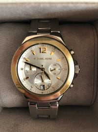 round gold Michael Kors chronograph watch with link bracelet Portland, 97212